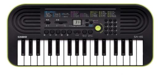 CASIO 32ミニ鍵盤 SA-46
