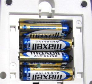 単3形アルカリ乾電池を4本
